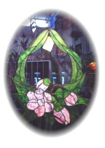 Tiffany Glaskunst - Blütenbild