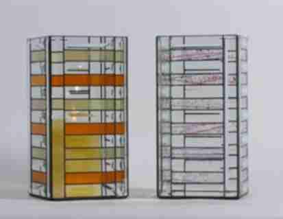 Vorlage f�r Tiffanyglas / Facetten -Windlicht